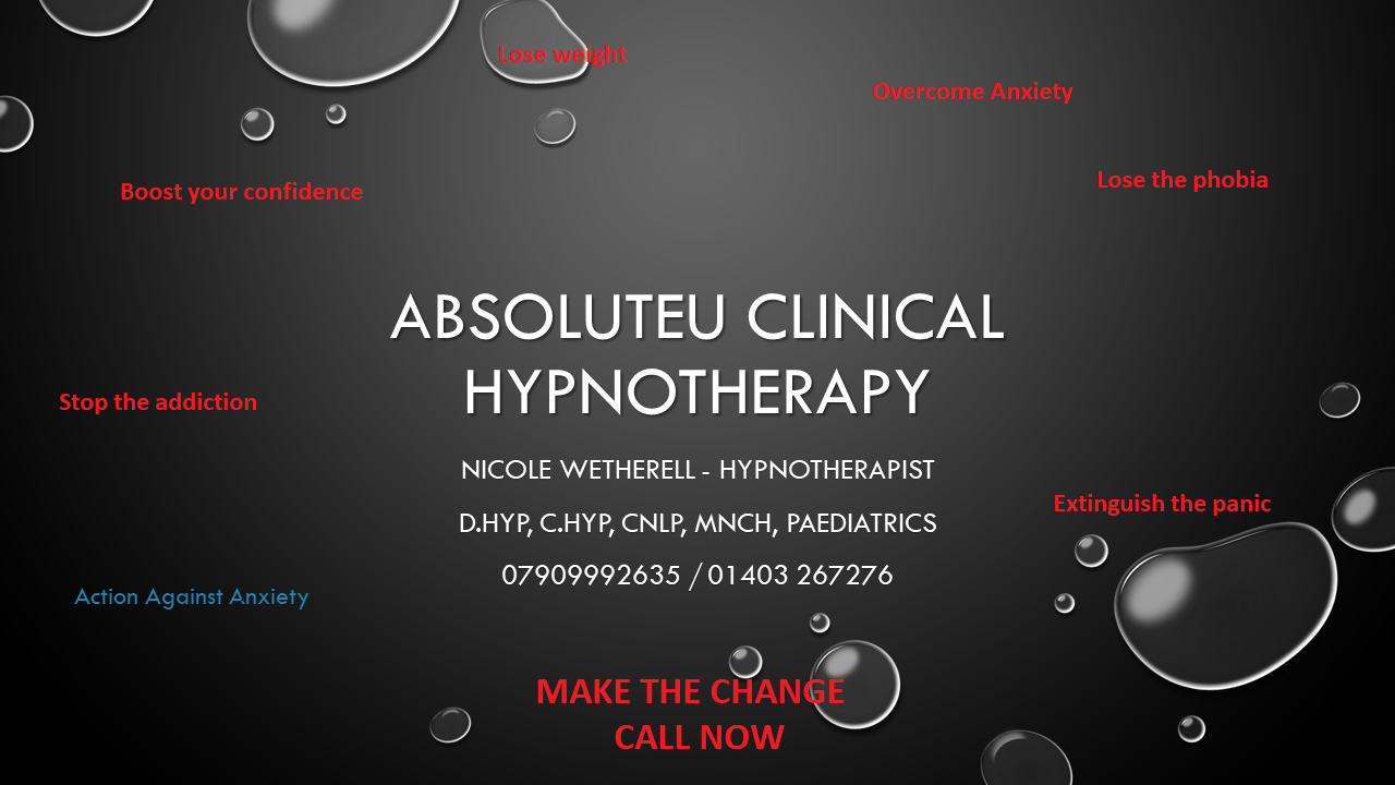 Hypnotherapy Horsham, West Sussex , Crawley and worthing